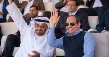 السيسى ومحمد آل نهيان
